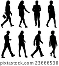 Black silhouettes of beautiful mans and womans 23666538