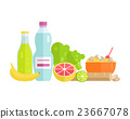 Food Concept Illustration in Flat Style Design. 23667078