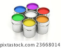 Paint cans, 3D rendering 23668014