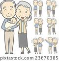 矢量 老年夫妇 情侣 23670385