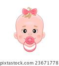 baby, vector, pacifier 23671778