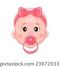 baby, vector, pacifier 23672033
