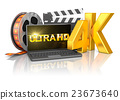 4K laptop and film strip 23673640