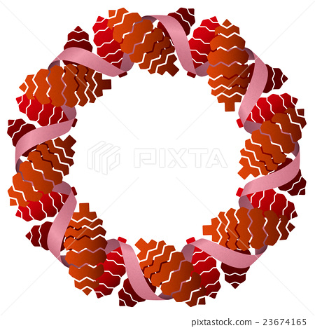 Christmas wreath _ pine cone _ red 23674165