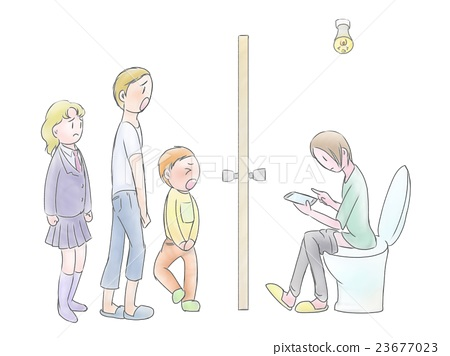 People who have a smartphone and who are in the toilet and who are in trouble 23677023