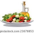 fresh green salad 23678853
