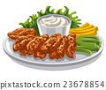 chicken wings appetizer 23678854