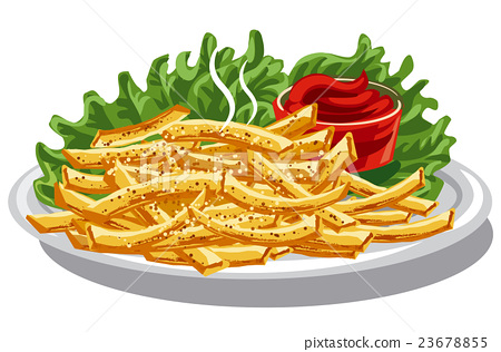 fries with ketchup 23678855