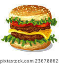 hamburger with cheese 23678862