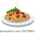 pilaf, illustration, vector 23678863