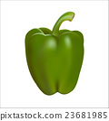 Green pepper isolated on white background 23681985