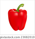 Red pepper isolated on white background 23682010