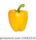 Yellow pepper isolated on white background 23682014