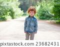cute little emotional boy outdoors 23682431