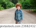 cute little emotional boy outdoors 23682432