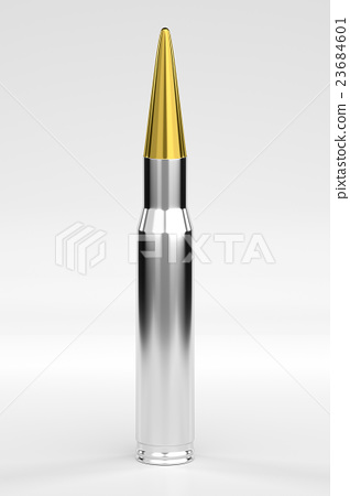 Bullet Isolated on White, 3D Rendering 23684601