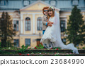 two funny little bride and groom 23684990