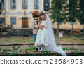 two funny little bride and groom 23684993