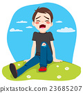 Boy Crying Hurt 23685207