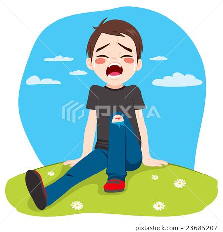Boy Crying Hurt 23685207