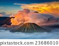 火山岩 山峰 烟 23686010
