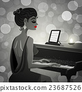 pianist, piano, instrument 23687526