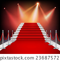 Red Carpet With Stairs 23687572