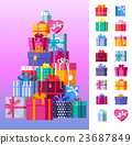 Set of Colorful Gift Boxes Vector Illustrations  23687849