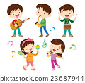 dancing kids and kids with musical 23687944