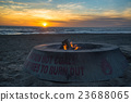 bonfire, evening scene, resorts 23688065