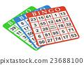 bingo cards, 3D rendering 23688100