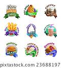 icon, fastfood, set 23688197