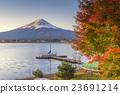 Fuji and Yacht Pier at Kawaguchiko Lake 23691214