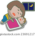 Co-sleeping parent and child 23691217