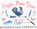 2017 Rooster Year Card 23692075