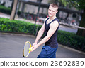 Sportman playing tennis 23692839