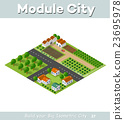 Country village of townhouses 23695978