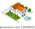 벡터, 가정, 건물 23696845