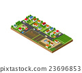 vector city illustration 23696853