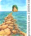 Pastel painting Mitsuke Island 23699438