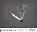 cigarette with smoke on black background,3d render 23699555