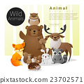 Cute animal family background with Wild animals 23702571
