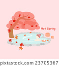 Beauty woman with hot Spring 23705367