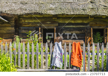 Private house and linen apron 23707713