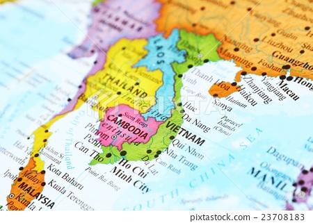 World map · Vietnam - Stock Photo [23708183] - PIXTA