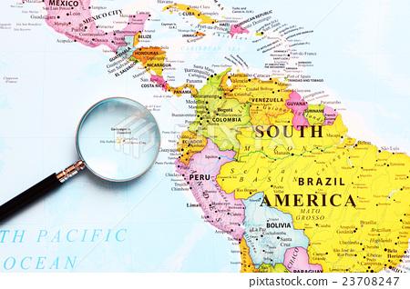 World Map Galapagos Islands Stock Photo 23708247 Pixta