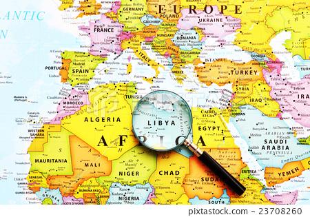 World Map Libya Stock Photo 23708260 Pixta