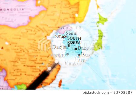 World map · South Korea - Stock Photo [23708287] - PIXTA