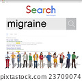 Migraine Symptoms Diagnosis Disturbed Vision Concept 23709074
