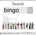 Bingo Game Luck Gambling Leisure Recreation Jackpot Concept 23709111